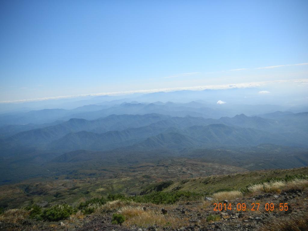 鳥海山(七高山)から見た山々